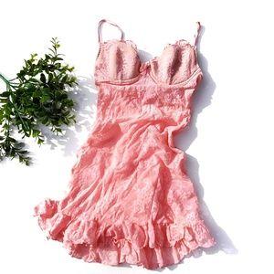 Victoria's Secret Pink Lace Lingerie Push Up Bows